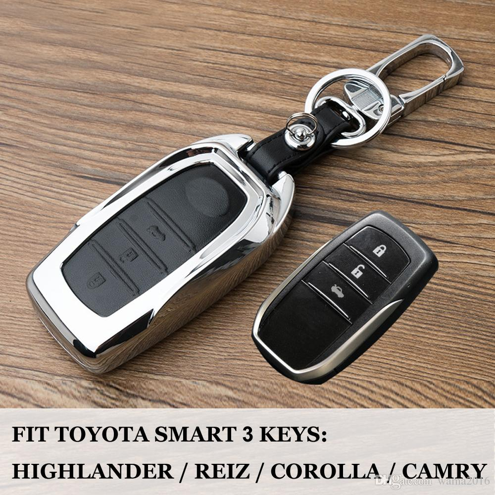Black//Silver Car Key Remote Cover Shell Case FOB for Toyota CHR 2018 2019