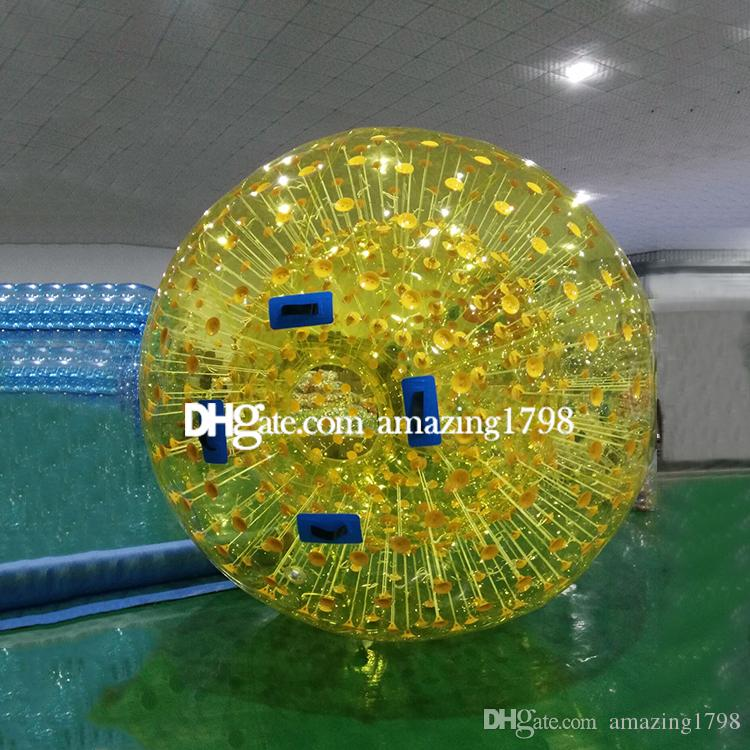 Free shipping Free One Pump Dia 3M Commercial Land Zorb Ball Zorb Ball For Land and Water Human Hamster Zorb Ball