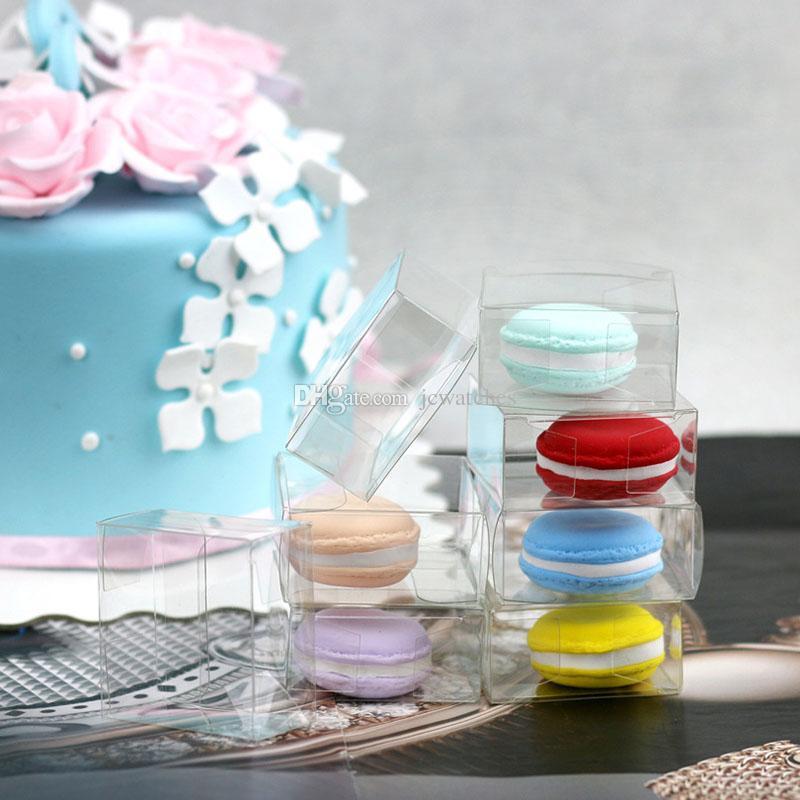 Ясная пластичная коробка Macaron PVC для Благосклонностей партии поставк 1 Macarons