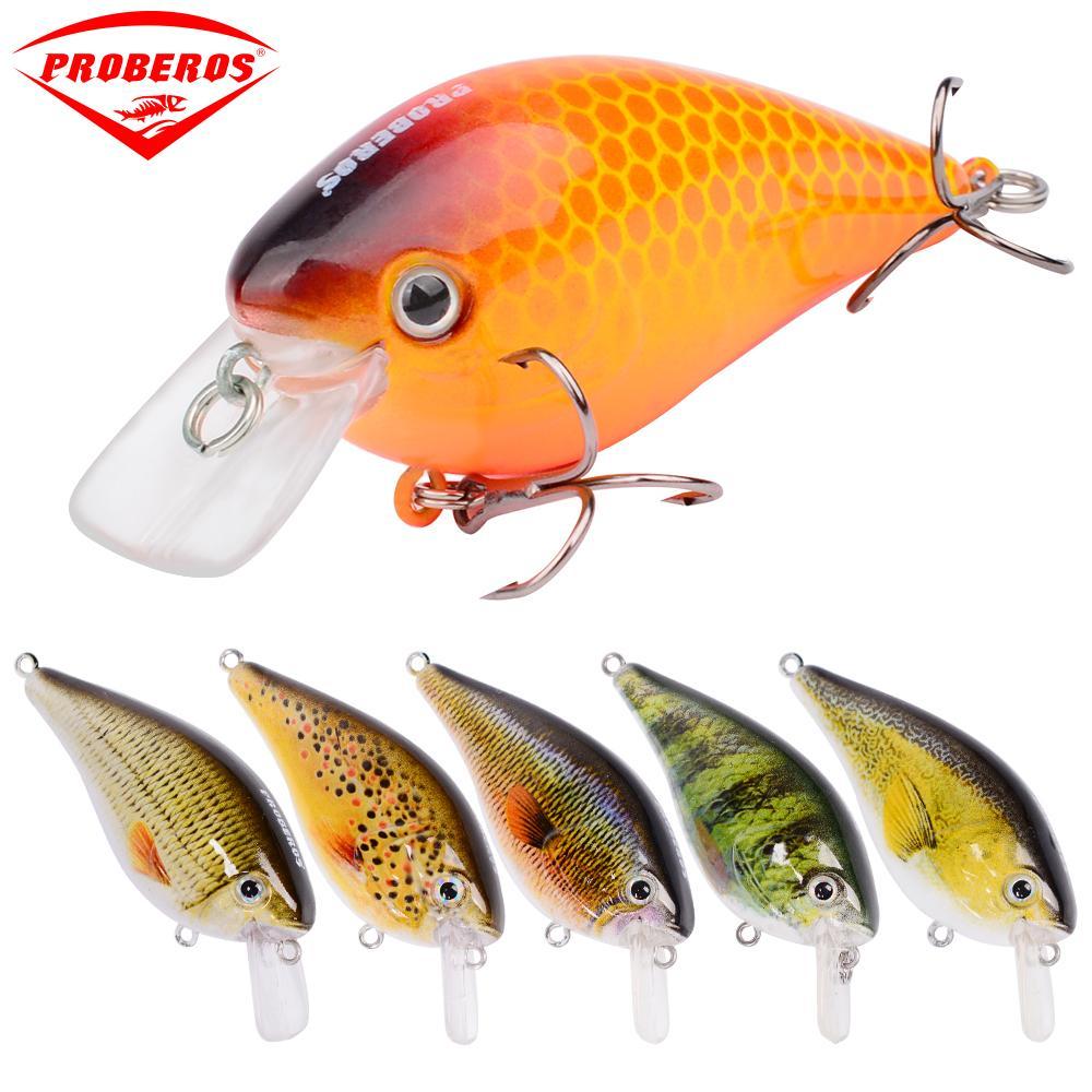 "6pcs/lot PRO BEROS Brand Fishing Lure 3""-7.6cm/12.75g-0.45oz Crankbait 6 Colors Fishing Tackle 6# Hook Fishing Baits Wobblers"