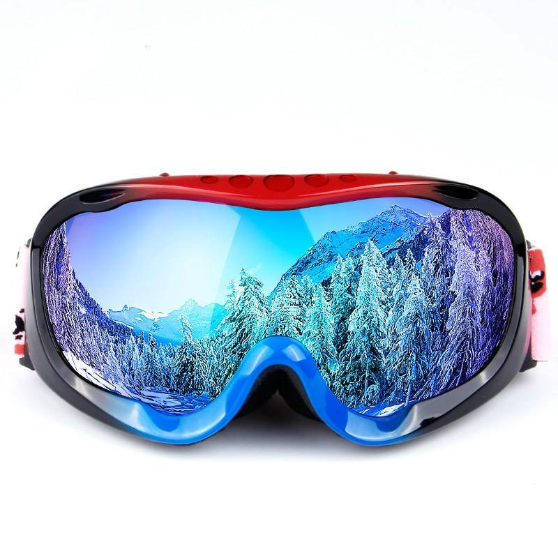 Çift anti-sis büyük küresel yetişkin erkekler kadınlar gözlük kayak Yeni full frame kayak gözlükleri miyopi ile donatılmış