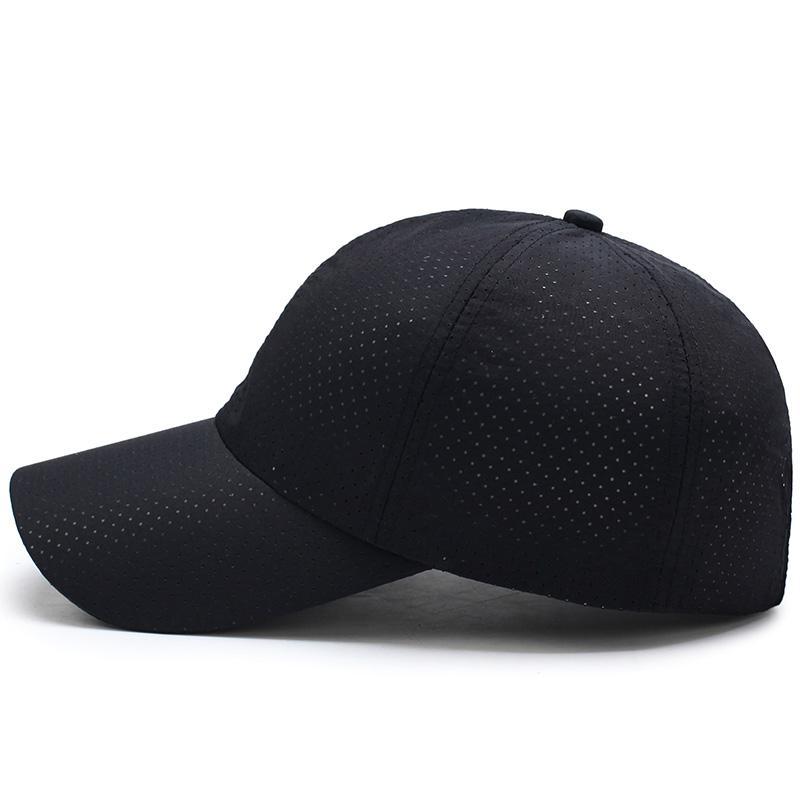 Aetrends Erkekler Kadınlar Yaz Snapback Hızlı Kuru Mesh Beyzbol Şapkası Katı Casual Casquette Sport Güneş Şapka Kemik Nefes Şapkalar Z -5109