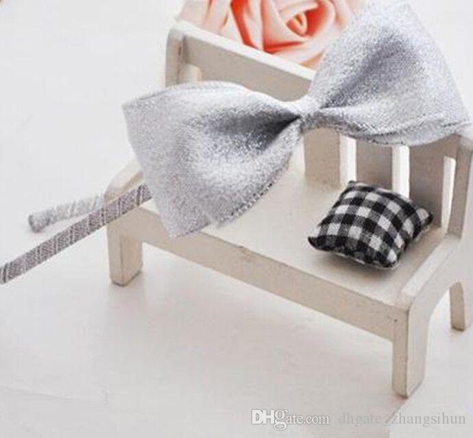 Or Argent Boutique Sequin bowknot élastique Bandeaux pour nouveau-nés filles Enfants femmes Bébé Bandeau Accessoires cheveux