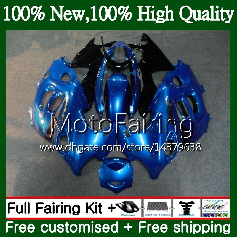 Cuerpo para SUZUKI KATANA GSXF 600 750 GSXF750 03 04 05 06 07 22MF11 GSX600F GSXF600 2003 2004 2005 2006 2007 Fairing Bodywork Stock blue
