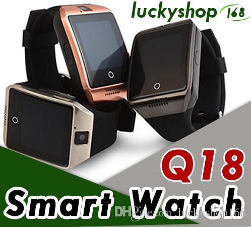 SmartWatch Box Watch pour Carte téléphonique Android Fitbit Bracelets Smart Fitness Q18 Bracelet TF Support TF Support Traqueur Téléphone Retial 20PC Klio