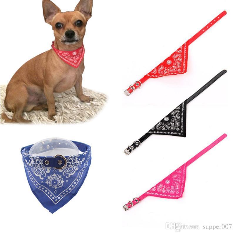 Регулируемый ошейник для домашних животных для собак Щенок шарф Ошейник для собак Прекрасный галстук-бандана Качество Pet Cats Аксессуары для собак 50
