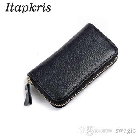 Portachiavi in pelle PU autentico di alta qualità Itapkris Nuovo portachiavi auto Portamonete portamonete portamonete