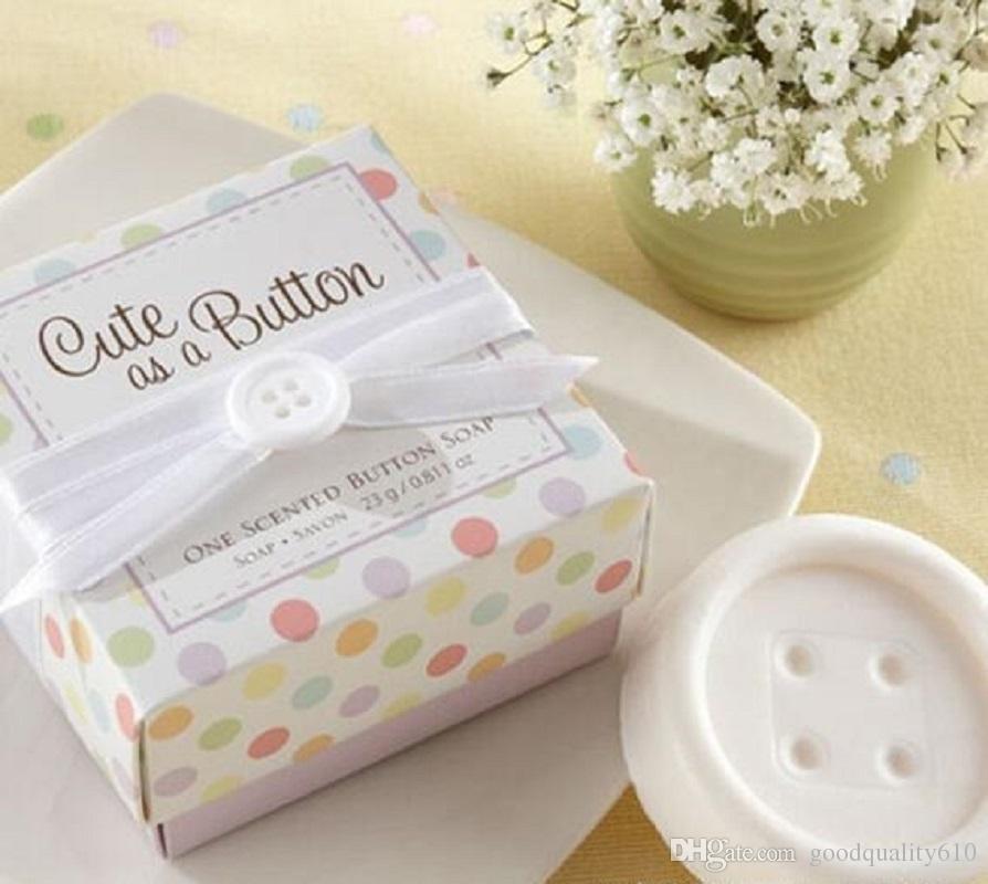 20pcs Cute Button Soap per la festa di compleanno di compleanno Baby Shower Souvenir regalo di favore Nuovo