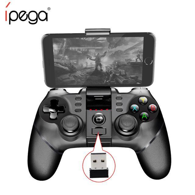 Original Ipega Sem Fio Bluetooth Gamepad Com Suporte 2.4G Sem Fio Receptor Suporte Android ios Game Console Player Com Toque