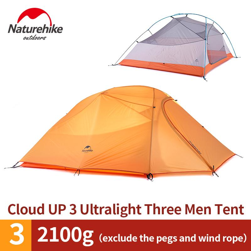 separation shoes 16aa1 c4154 NatureHike 3 Person Lightweight Camping Tent Outdoor Hiking Backpacking  Ultralight Waterproof 3 Man Best Family Camping Tent Coleman Instant Tent 4  ...