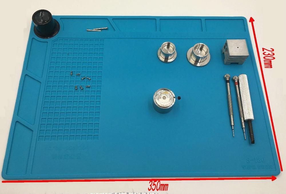35 cm x 23 cm Relógio de Reparação Almofada de Trabalho resistente ao Calor antiderrapante Mat Assista ferramenta Para Relojoeiro