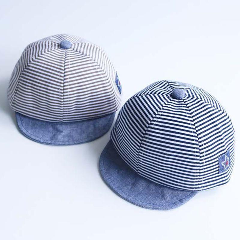 الصيف القطن الطفل القبعات لطيف عارضة مخطط الطنف لينة البيسبول كاب الطفل الصبي القبعات الطفل بنات أحد قبعة جديدة