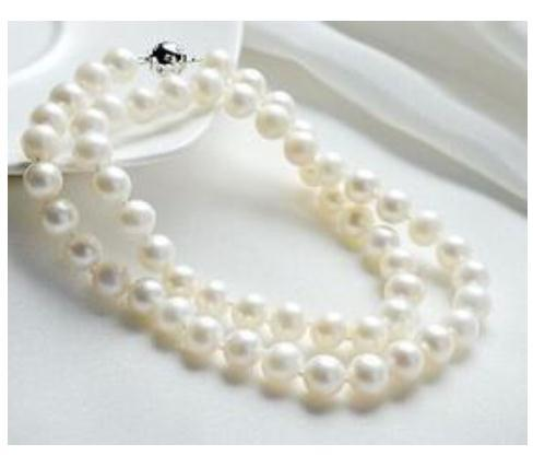 Venta al por mayor 9-10 MM mar del sur natural redondo blanco perla collar de 18 pulgadas S925 plata