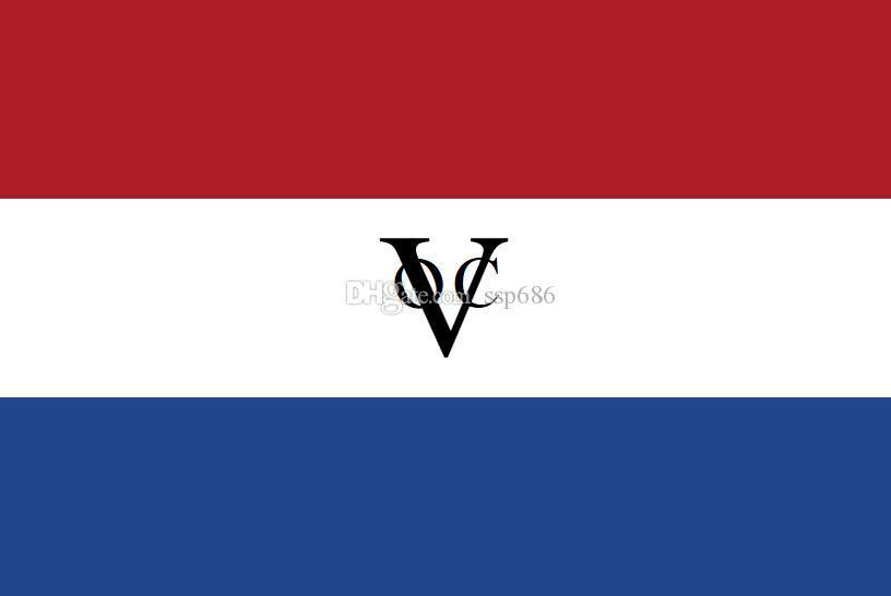 Holandia Holandia Flaga Holenderskiego East India Company 3FT X 5FT Poliester Banner Latający 150 * 90 cm Niestandardowa flaga na zewnątrz