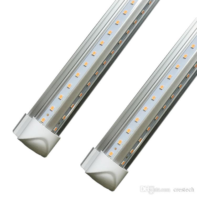 8ft led V-Shaped 4ft 5ft 6ft Cooler Door Led Tubes Integrated Led Tubes Double Sides SMD2835 Fluorescent Lights 3000K 4000K 5000K 6000K