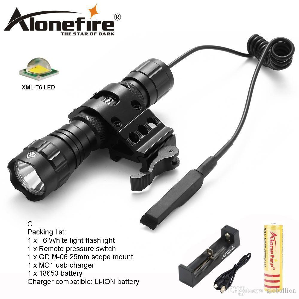 USB Rechargeable XM-L T6 Flashlight Hand Torch Tactical Hunting Light w//Battery