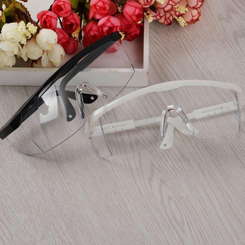 1Pc Anti UV Glasses for UV Gel Nail Art Black/White Big Frame Nail Art Manicure Tool (Random Color)