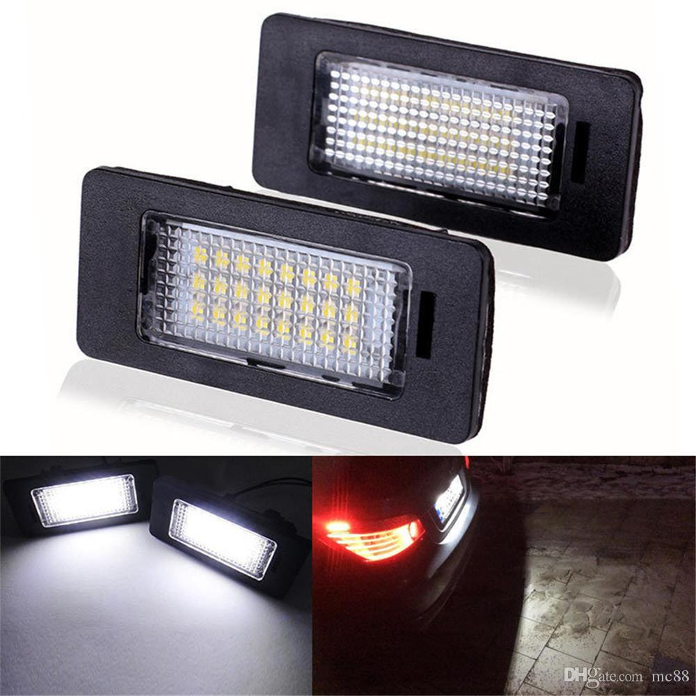 Voiture Led Plaque D'immatriculation Led Lumière Lampe 12v Blanc 6000K Pour BMW E39 E60 E82 E90 E92 E93 M3 E39 E60 E70 X5 E60 E61 M5 E88