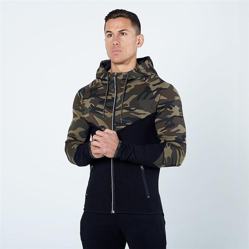 Gym Hoodies Men Autumn Spring Men Army Camouflage Sweatshirt Golds Bodybuilding Sport Hoodies Fitness Jogger Mens Jacket