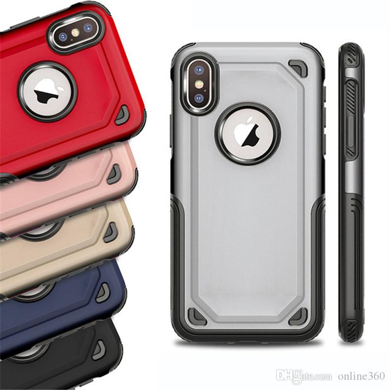 2 in 1 Hybrid Armor Case Rugged Shockproof Defender Cases Cover for iPhone 11 X XR XS Max 7 8 Plus Samsung S10 Note 9