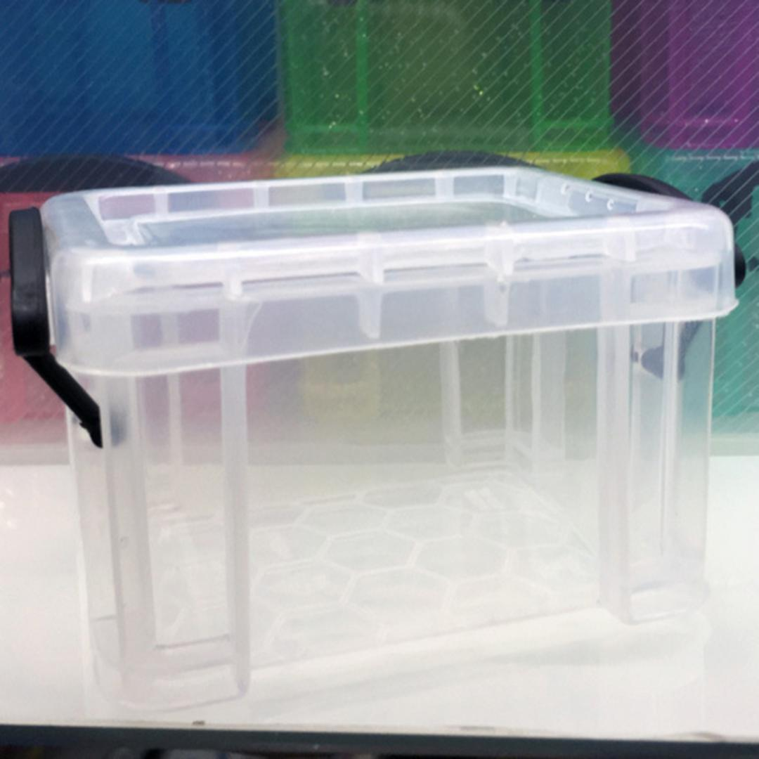 E-SHOW 3pcs Transparent Rectangle Shape Storage Box Fishing Lure Box Case Jewelry Mini Empty Organizer Beads Container Case