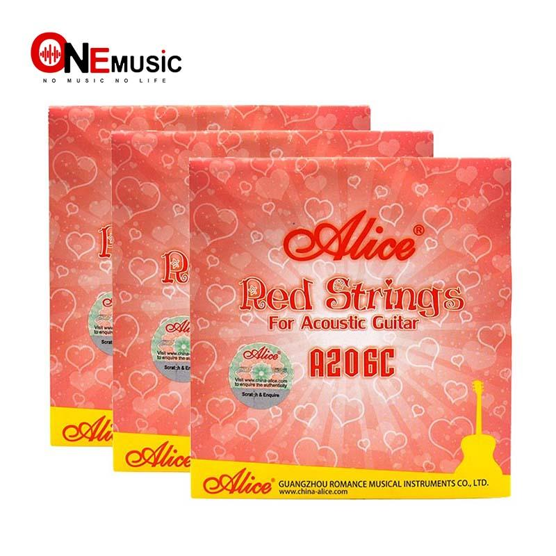 High Quality Alice A206C Stainless Steel Red Alloy Wound Acoustic Guitar Strings