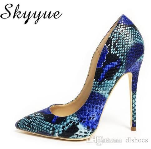 Yeni Deri Sivri Burun Kadın 12 cm Yüksek Topuklar Seksi Kadın Yaz Ayakkabı Pompaları Kadın Düğün Ayakkabı Üzerinde Kayma