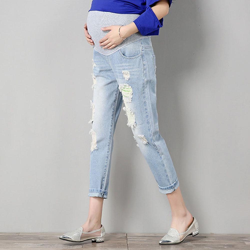 Großhandel Frühling Sommer Mutterschaft Kurzen Hosen Schwangerschaft Shorts Schwanger Jeans Mutterschaft Shorts Herbst Bauch Denimhosen Lose M L