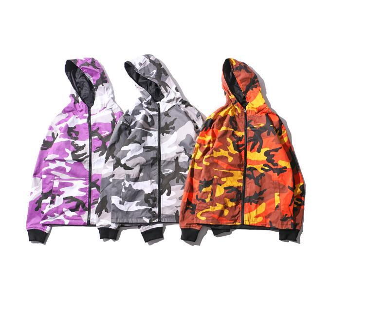 New Fashion Twill Material Camouflage Jacket With Hoodie Autumn Think Style Camo Double Sided Men &#039 ;S Jackets S -Xxxl
