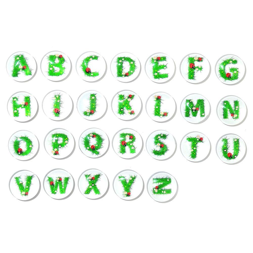 26 Letter 30 MM Magnetic Refrigerator Stickers Child Letter Magnet Cartoon Kids Gifts Glass Fridge Magnet Note Holder Home Decor