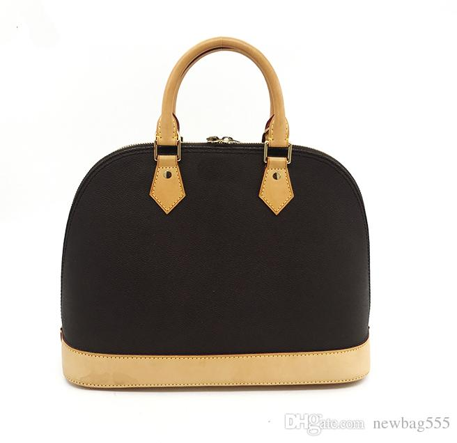 ALM BB MM shell tasche frauen Echtes Leder ikonischen handtaschen blume umhängetaschen reißverschluss schloss designer crossbody tasche tote 53151 53512