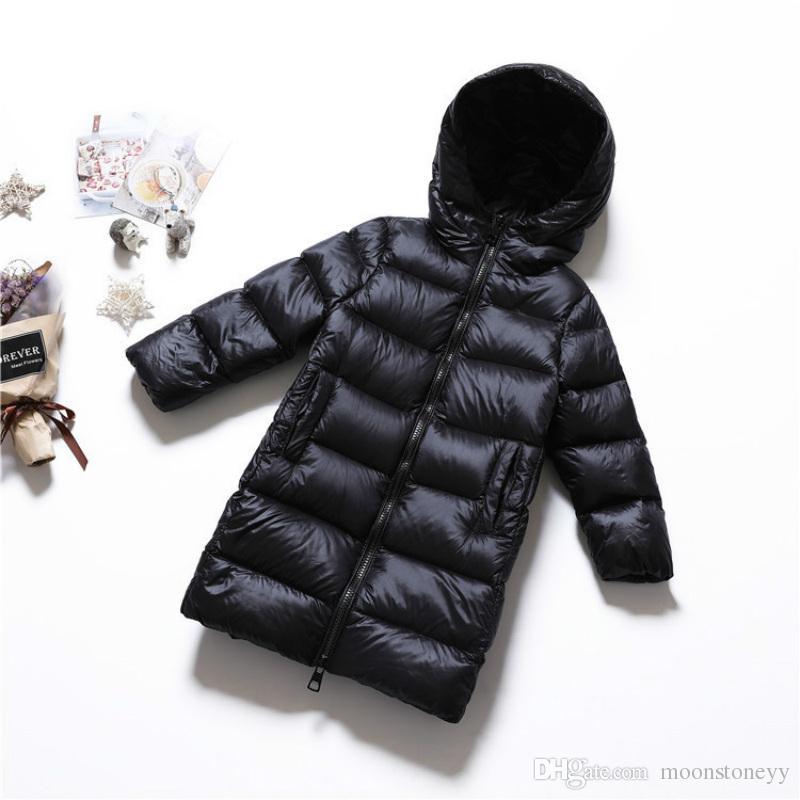 Boy Kinder Mantel Daunenjacke Kleidung Neue Mädchen Kapuze Großhandel Ente Mit Parka Lange Wasserdichte Baby Wintermantel Von Silber 6gf7yYIvb