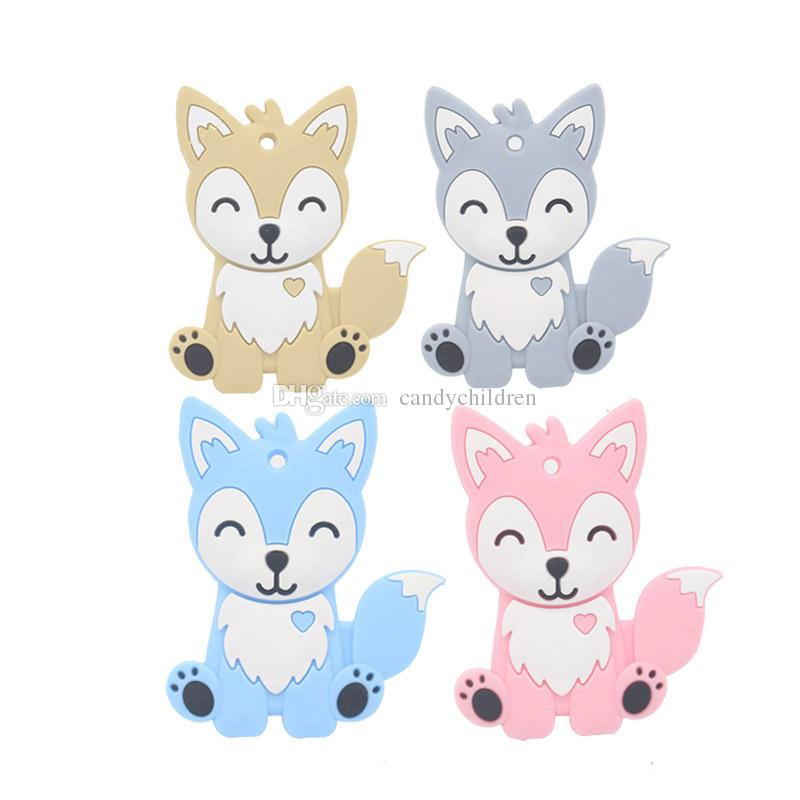 Tétines fox nourrisson nourriture silicone bébé tout-petits animaux Sucettes C55 formation molaire