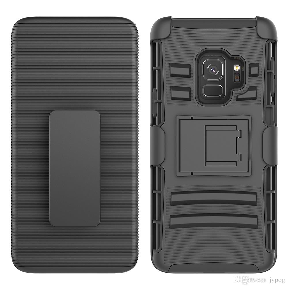 For Samsung S9 Case 3in1 Defender Case High Impact Hard Rugged Non-silp Phone Case with Kickstand and Swivel Belt Clip Cases for SamsungS9