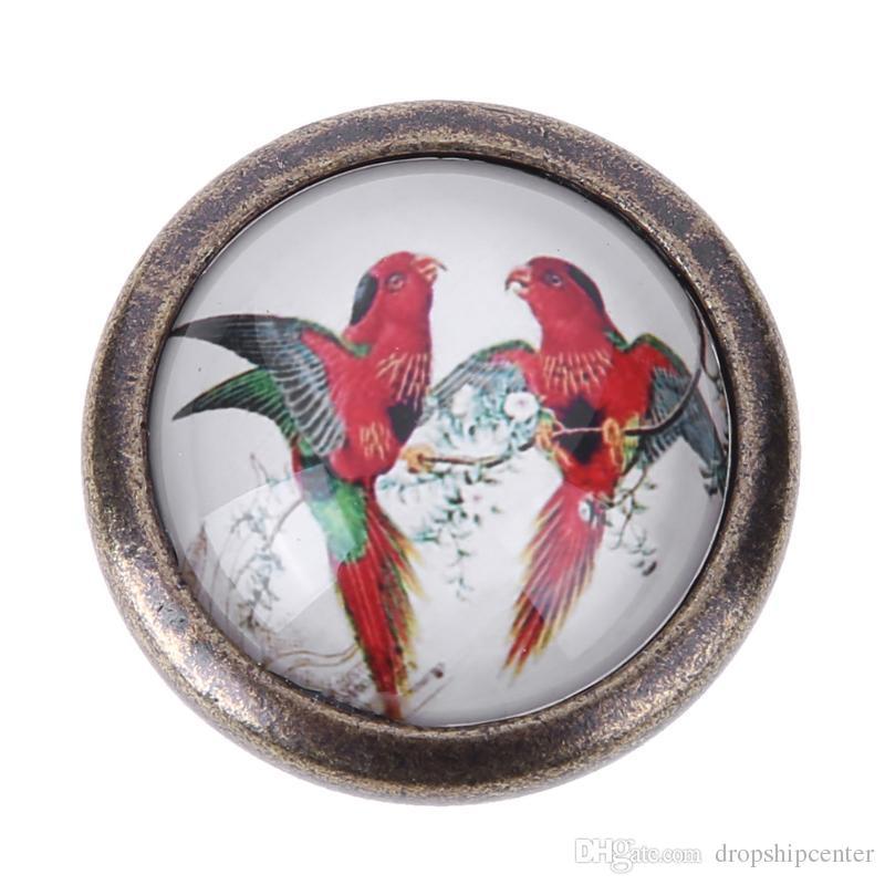 Vintage Çinko Alaşım Kolu Kuş Retro Kapı Topuzu Mutfak Dolap Çekmece Dolap Çekme Dolap Kolu Tek Delik