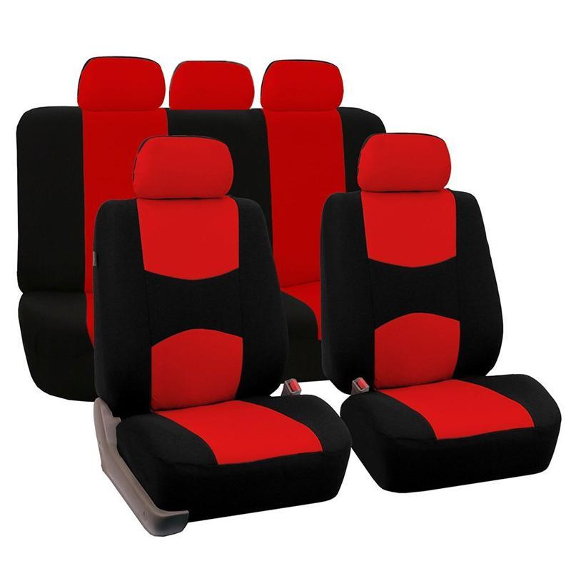 مقعد يغطي سيارات عالية الجودة العالمي صالح البوليستر 3MM مركب الإسفنج سيارة لادا سيارات الدفع الرباعي التصميم الحالات مقعد السيارة غطاء الملحقات