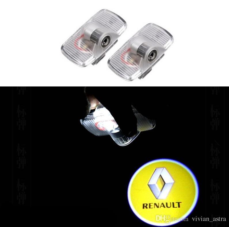 2 pezzi universale senza fili luci di cortesia LED Porta Luce benvenuto logo illuminazione di Porta proiezione portiera,LED Projector Door Shadow Light Welcome Light