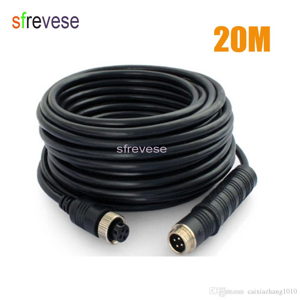 4 Pin Extension Cable for Rear View Backup Camera System 20m//65ft