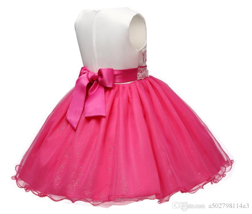 Venta al por mayor Vestido de niña de las flores para el cumpleaños ...