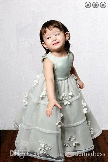 free shipping 2018 new style organza Girls' Formal gowns Lovely princess dress weddings Girl's Pageant Gowns Flower Girl Dresses