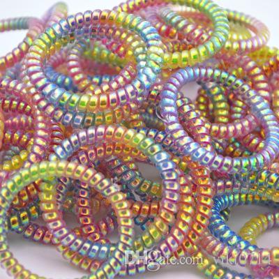CM graduale cambiamento di anello colorato sottile linea telefonica capelli, fascia dei capelli, la fascia della coda di gomma, senza linea dei capelli male.