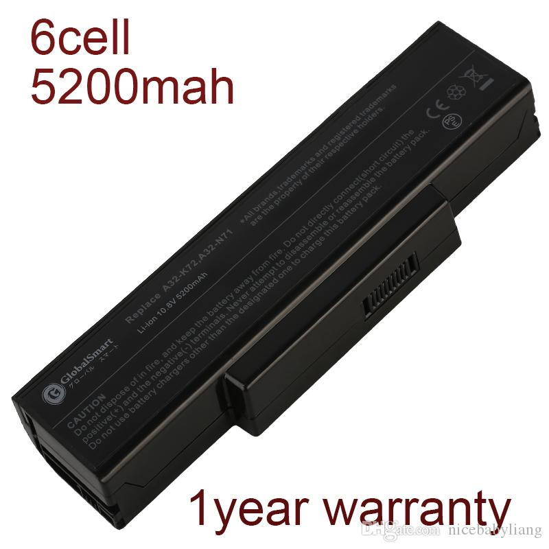 Bateria do notebook A32-N71 A32-K72 para asus K72N K72R X73B X73T K72JT K72JU K72JK K73JK X73TK A73SJ X73SI N73SL A73SV N73S