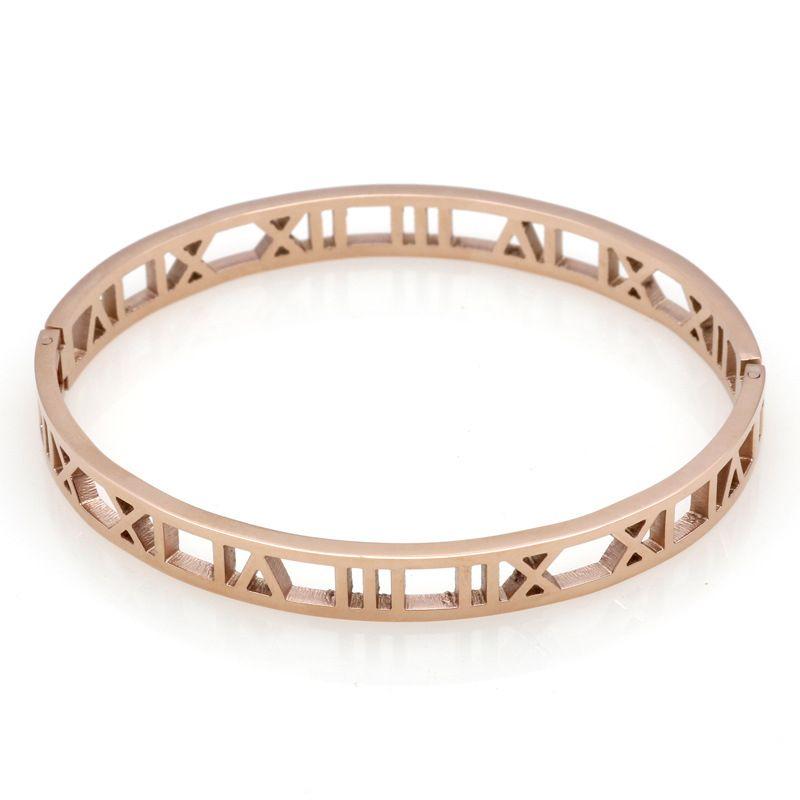 2018 Nouveau Bracelet titane en acier au fil d'acier titane, numérique, bracelet en or rose et argent doré