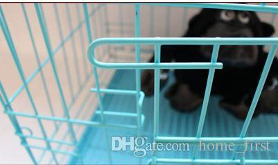 Durable Cat Fashion Tray More Foldable Kennel Playpen Wire Suitcase Cage Puppy Pet Sturdy With Size Uvbcq