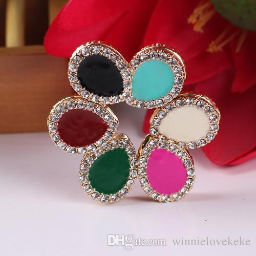 36pcs / lot Pinless Pins magnéticos para bufandas Hijab   Rhinestone imán botón / estilo broche: lágrima envío gratis