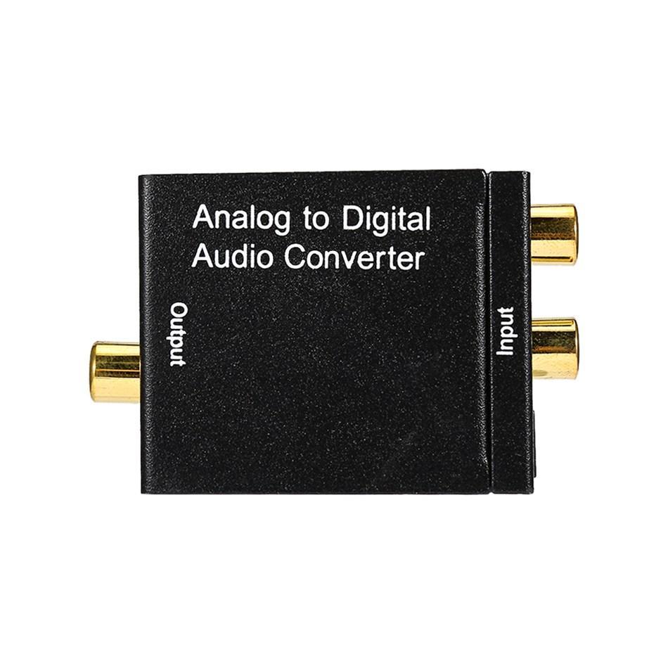 Connecteur audio analogique / numérique à transmission libre L / R vers numérique RCA coaxial SPDIF numérique et entrée optique Toslink R / L vers sorties coaxiale et Toslink