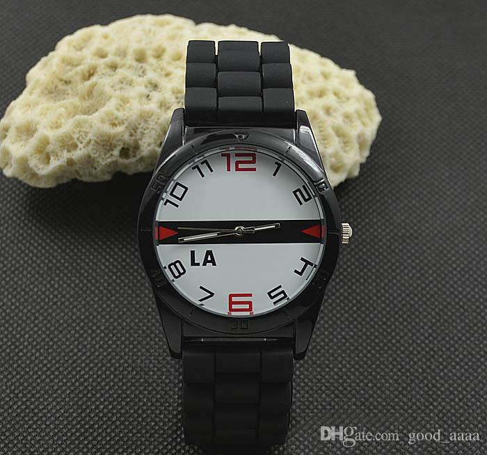 2019 nuevo hombre Marca Casual Mujer Hombre Unisex Animal estilo cocodrilo Dial Correa de silicona analógico de cuarzo reloj de pulsera