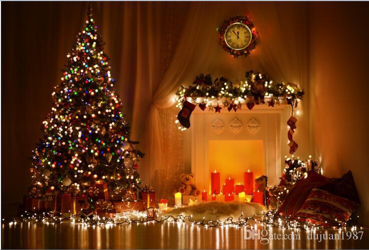 Tema feito sob encomenda do Natal do vinil Backdrops da fotografia fundo do estúdio da foto do suporte ZP-31
