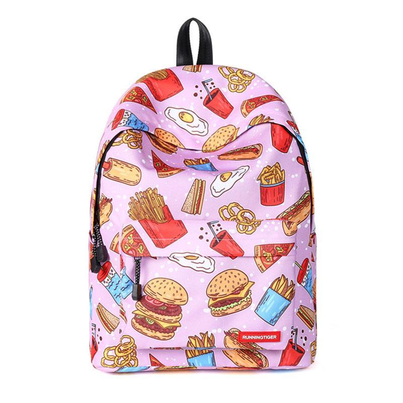 2018Mini рюкзак женщины Kawaii еда мультфильм Сова Bagpack школьная сумка для девочек-подростков анти-кражи 13 дюймов ноутбук рюкзак сумка