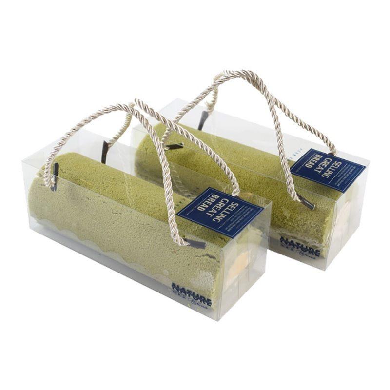 18 * 6.5 * 6.5cm Boîte d'emballage de cuisson pour animaux de compagnie pour Pet pour rouleau suisse Sushi Cupcake Portable Cake Cake Wen7012